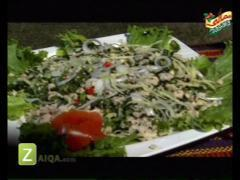 Chicken With Almonds And Chicken Mince Salad By Kokab